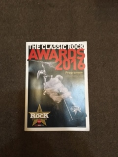 ★Classic Rock Awards2016プログラムクラシックロックアワード