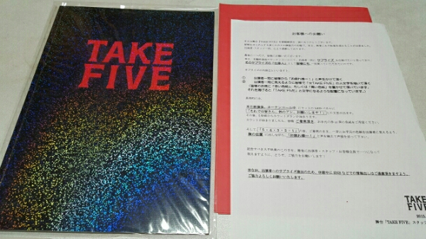 美品 藤ヶ谷太輔 TAKE FIVE パンフレット+おまけ キスマイ