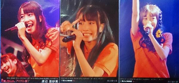 Cheeky Parade / 渡辺亜紗美 生写真 3枚セット 美品 iDOL Street