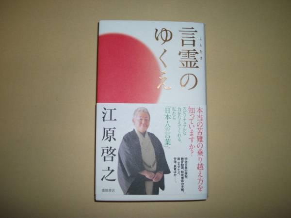 江原啓之/毛筆サイン落款入り☆言霊のゆくえ☆2012年初版/帯