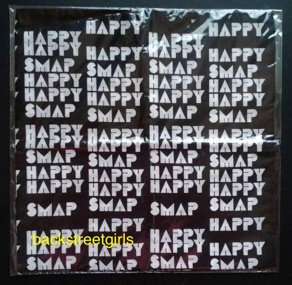 【新品未開封】SMAP SHOP HAPPY HAPPY SMAP★限定ハンカチ・黒☆☆大幅値下げ中☆☆