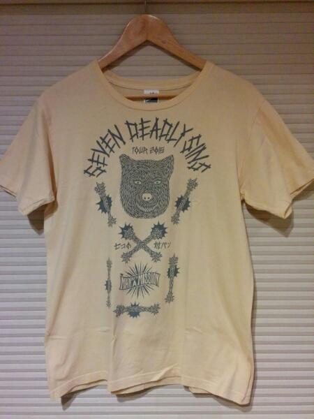 man with a missionマンウィズ 7つの対バンTシャツ Mサイズ a406
