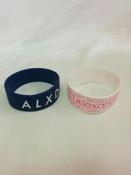 Alexandros アレキサンドロス ラバーバンド 青白 2個セット a784