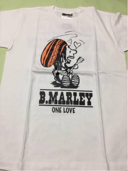 スヌーピーパロディ TシャツBob Marley 白ボブマーリー S◆ラブ