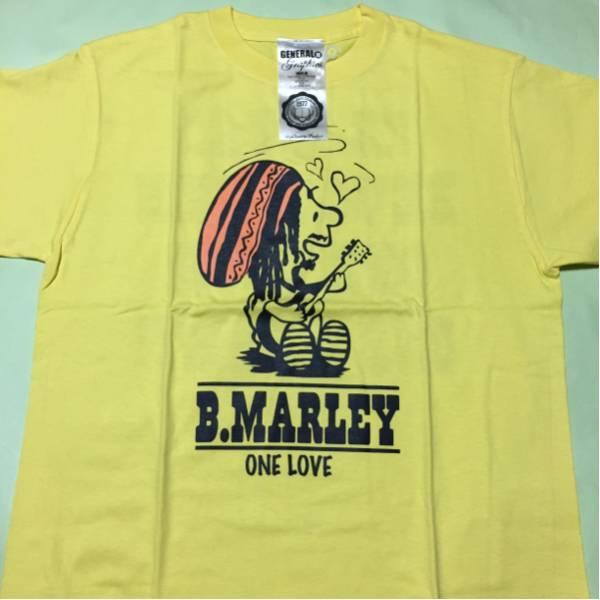 スヌーピー パロディ Tシャツ Bob Marley ボブマーリー 黄 M