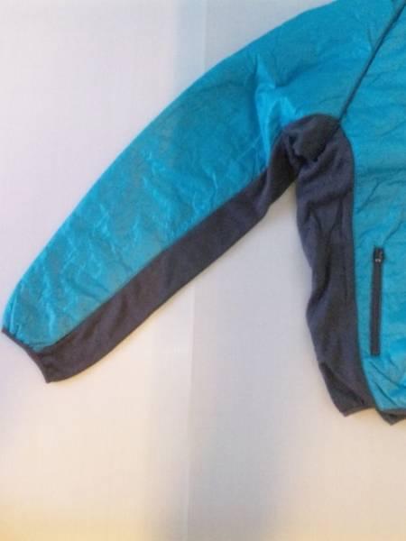サイド切替中綿ダウンジャケット ブルー×グレー3Lサイズ【新品タグ付き】_画像2