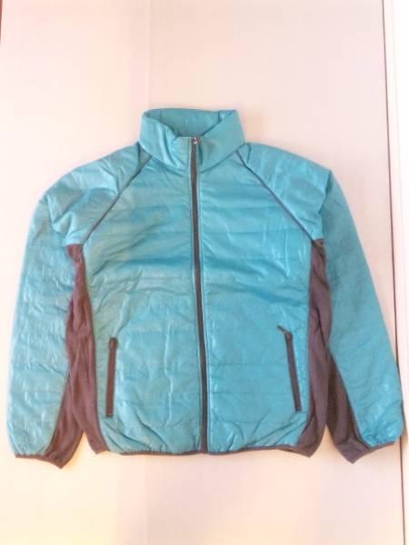 サイド切替中綿ダウンジャケット ブルー×グレー3Lサイズ【新品タグ付き】