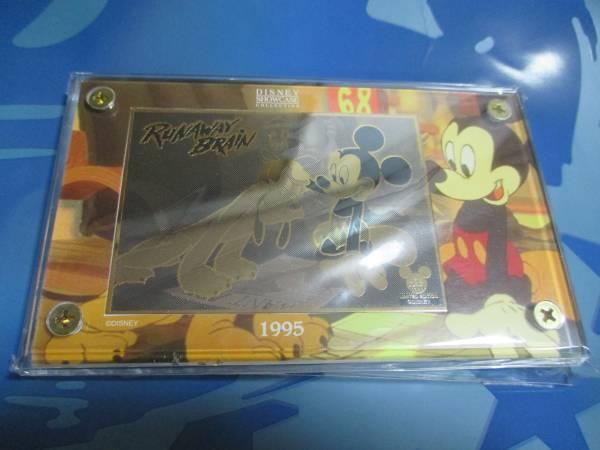 Disney ディズニー SHOWCASE COLLECTION コレクターカード 24K 金 ゴールド ショーケース コレクション ミッキー プルート 限定 ディズニーグッズの画像