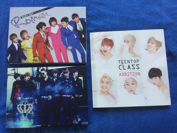☆TeenTop 韓国盤CD☆3点まとめて☆1度視聴☆中古☆+おまけ ライブグッズの画像
