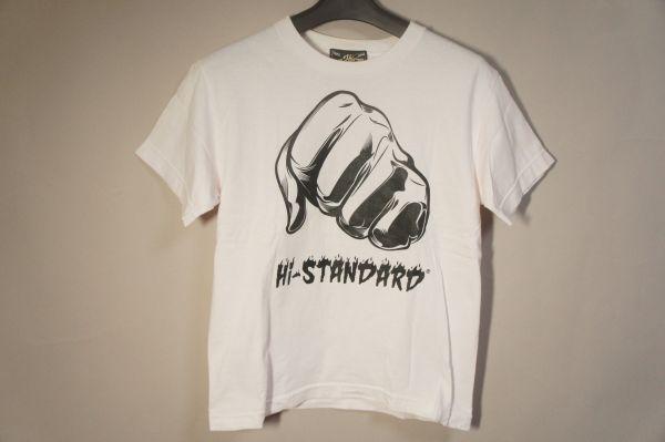 ハイスタンダード Tシャツ 白 XS/Hi-STANDARD バンドTシャツ ライブグッズの画像