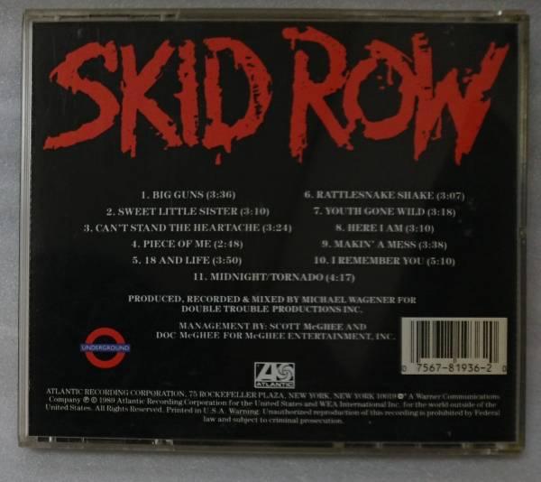 SKID ROW 1989 1st★US オリジナル盤CD [513W_画像2