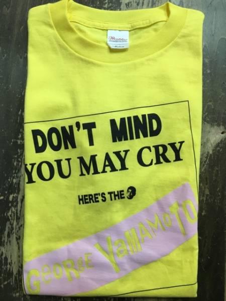 【未使用品】 山本譲二 DONT MIND YOU MAY CRY Tシャツ M