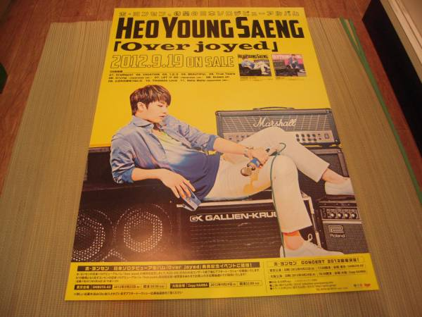 ポスター:ホ・ヨンセン HEO YOUNG SAENG「Over joyed」