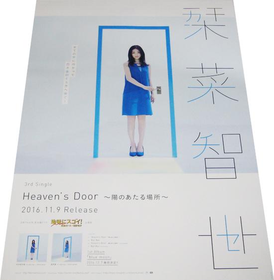 ●栞菜智世 『Heaven's Door 陽のあたる場所』 CD告知ポスター