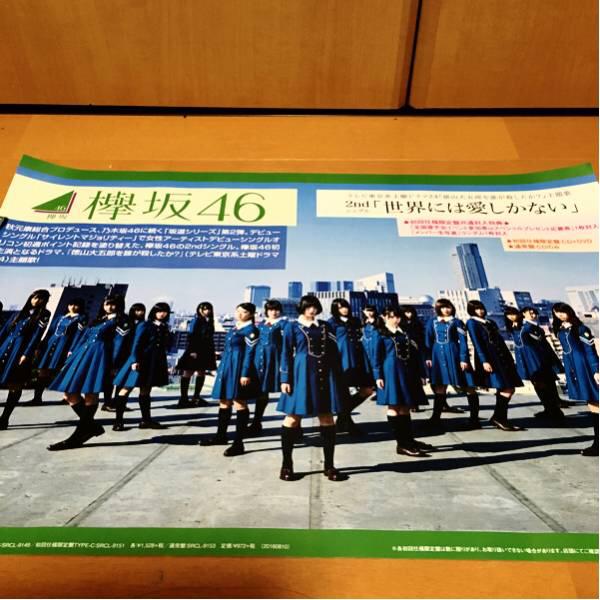欅坂46ポスター販促品、記念非売品です^_^ ライブ・握手会グッズの画像