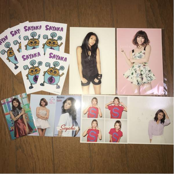E-girls Happiness SAYAKA ポストカード、トレカセット。希少有