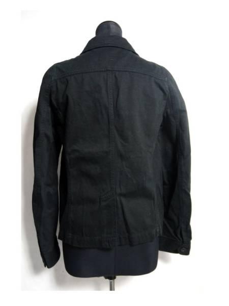 美品 フラボア FRAPBOIS ジャケット 黒 綿 0 日本製 D514_画像2