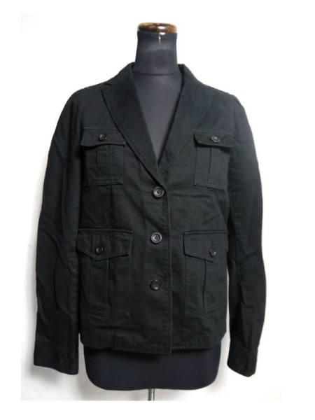 美品 フラボア FRAPBOIS ジャケット 黒 綿 0 日本製 D514_画像1