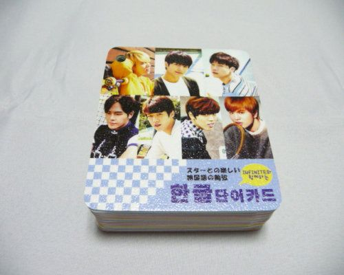 韓国 K-POP☆INFINITE☆ 韓国語単語カード  ライブグッズの画像