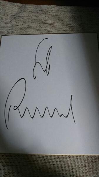 浦和レッズギド・ブッフバルト直筆サイン色紙