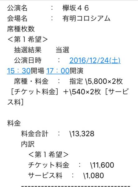12/24 欅坂46 クリスマスライブ 2連番 落札者支払い&発券 ライブ・握手会グッズの画像