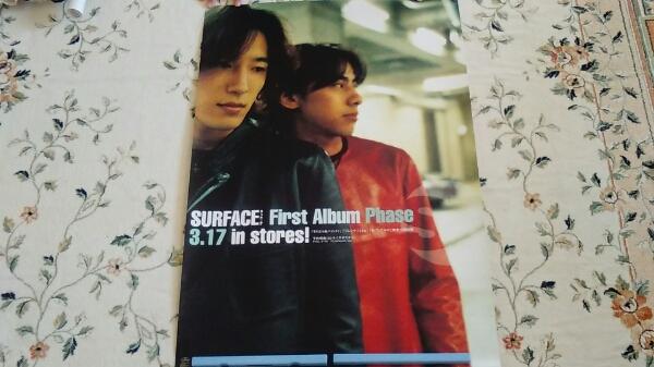 SURFACE B2ポスター 椎名慶治 告知非売品 送料200円 Phase 1st First Album デビュー・300円・即決