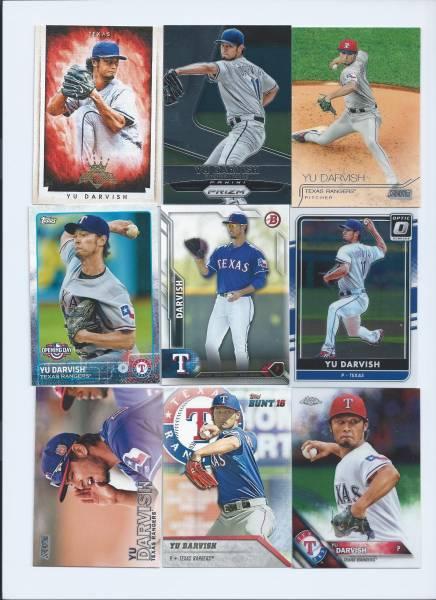 日本人MLB ダルビッシュ有(レンジャーズ) 9枚 左投げ含む グッズの画像