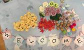 【送料無料】結婚式飾りセット(和風)造花・手鞠・水引・鶴