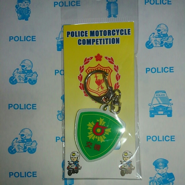限定品◆交機隊 エンブレムキーホルダー 鳥取県警察_画像1
