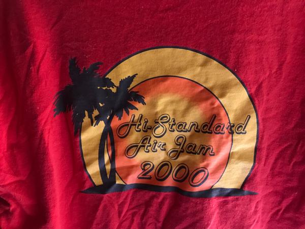 ハイスタ エアジャム2000 Tシャツ Hi-standard airjam2000 赤
