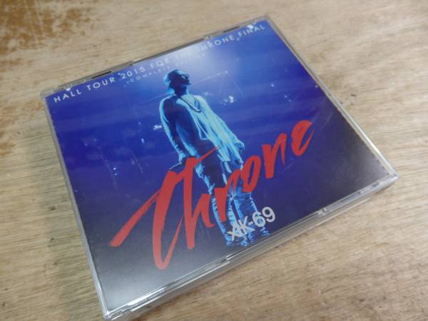 t1108 CD+DVD付き HALL TOUR 2015 FOR THE THRONE FINAL AK-69 ライブグッズの画像