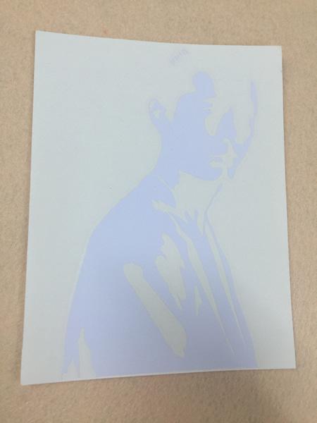 矢沢永吉-KAVACH-永ちゃんカバチシルエットステッカー ライブグッズの画像