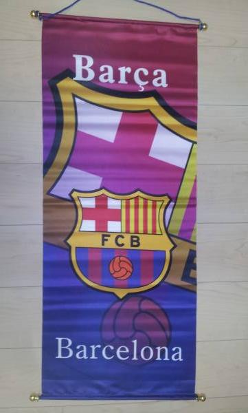 サッカー フラッグ タペストリー FCバルセロナ グッズの画像