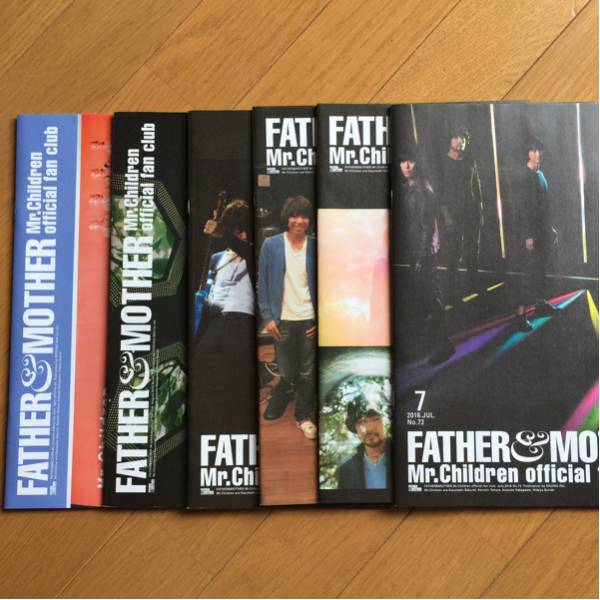 FATHER&MOTHER Mr.Children ミスチル FC会報 6冊