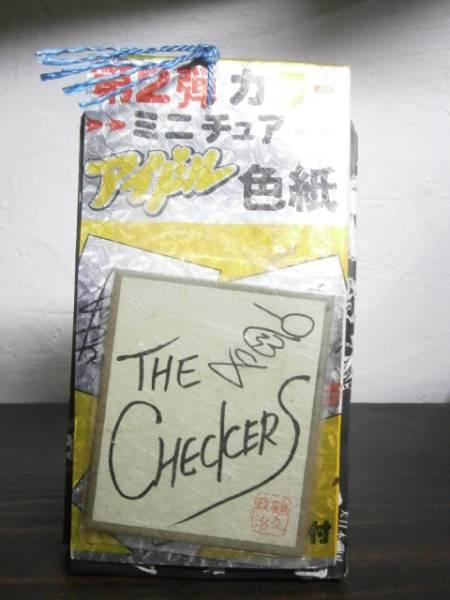 80年代アイドルサイン色紙当時物中森明菜チェッカーズ聖子吉川
