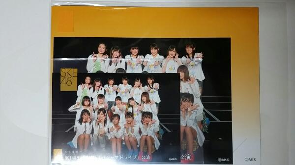 NGT48 SKE48劇場出張公演 集合生写真 11/5 2L版 台紙付きセット ライブグッズの画像