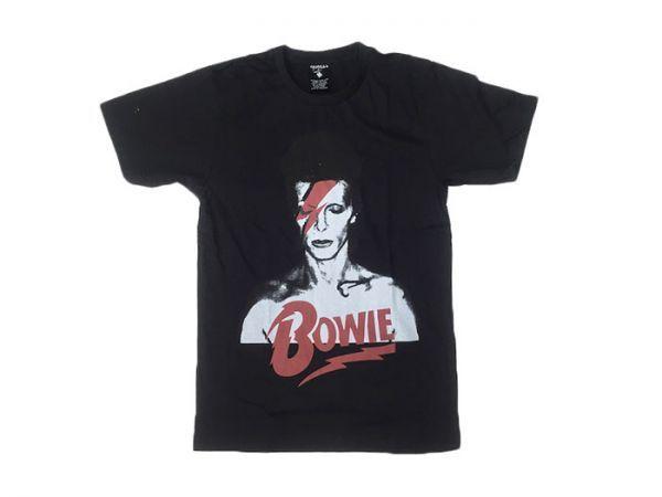 デヴィッド・ボウイ Tシャツ 半袖 黒 M アラジン・セイン ★B448
