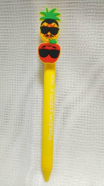 【即決】パイナップル&アップルペン ボールペン 黄色 ピコ太郎 PPAP