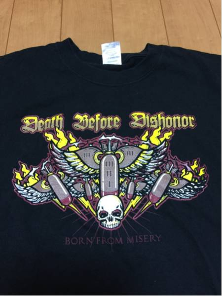 送料無料 death before dishonor Tシャツ /nyhc merauder