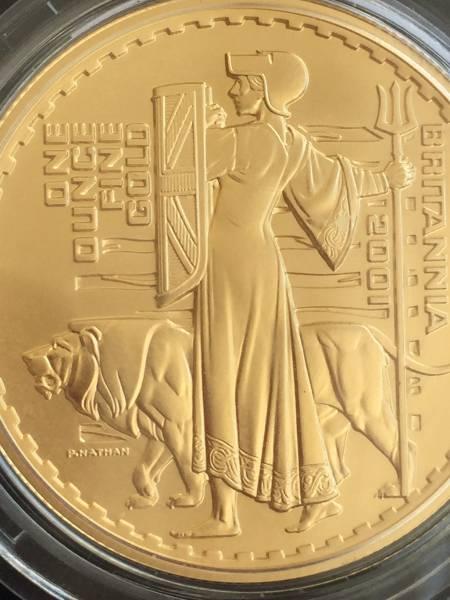 2001年 英国 ブリタニア ウナ&ライオン プルーフ金貨4枚セット_画像2
