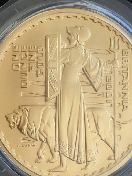2001年 英国 ブリタニア ウナ&ライオン プルーフ金貨4枚セット_画像3
