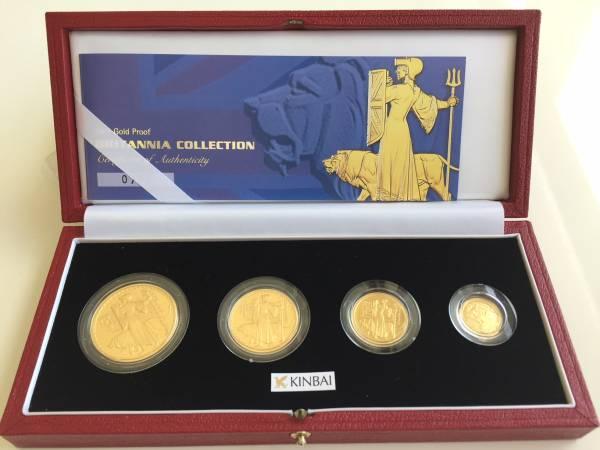 2001年 英国 ブリタニア ウナ&ライオン プルーフ金貨4枚セット_画像1