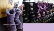 UGG 子供 リボン ムートン ブーツ モーヴパープル KIDS 靴 アグ