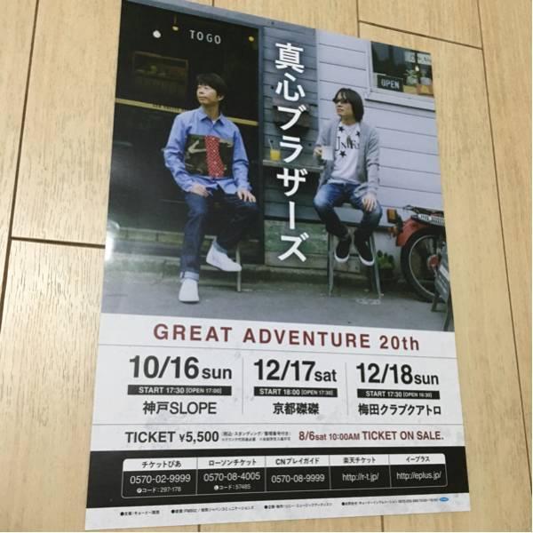 真心ブラザーズ great adventure 20th ライヴ 告知 チラシ 2016