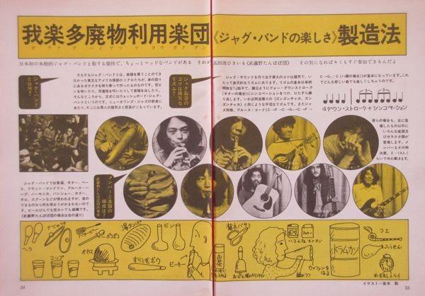 高田渡 武蔵野タンポポ団 かぐや姫 1971 切り抜き 4ページ S10NG
