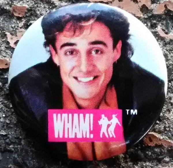 アンドリュー・リッジリー Wham! 1980年代 ビンテージ缶バッジ
