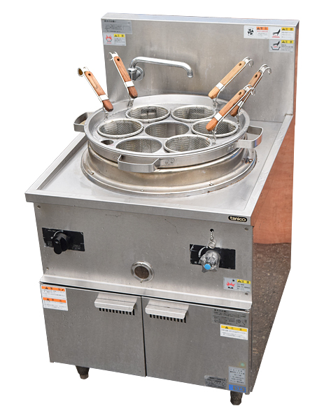 ★タニコー/tanico★LPガス用に変換済み中華ゆで麺器 TU-2N 14年製_画像1