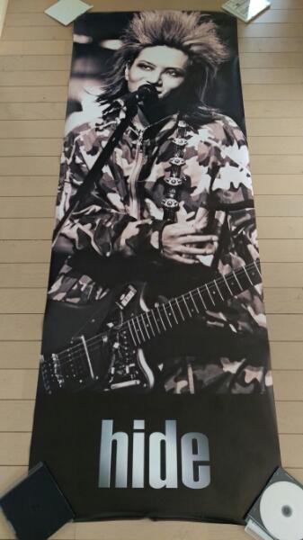 ほぼ新品 未使用 X JAPAN hide 超特大 等身大 ポスター