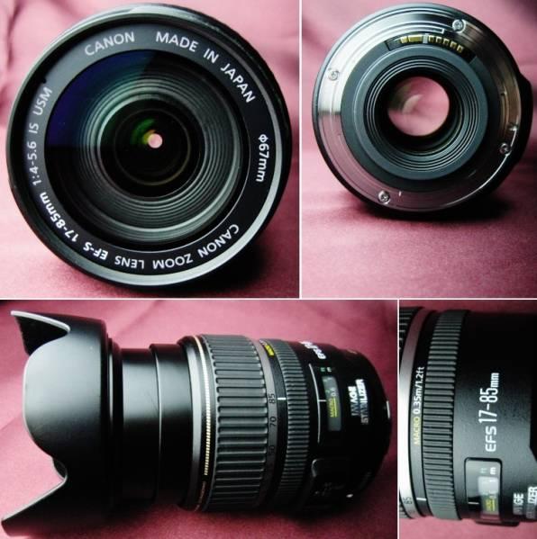 美品 Canon キャノン EF-S17-85mm F4-5.6 IS USM 手ブレ補正付② 35mm判換算27~136mm相当の標準域をカバー 軽量・コンパクトで旅行に最適_安心の金属マウント 手振れ補正付
