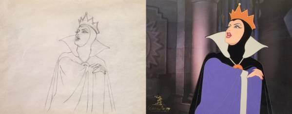 ディズニー 白雪姫 女王 魔女 原画 セル画 Disney 全世界1枚限定